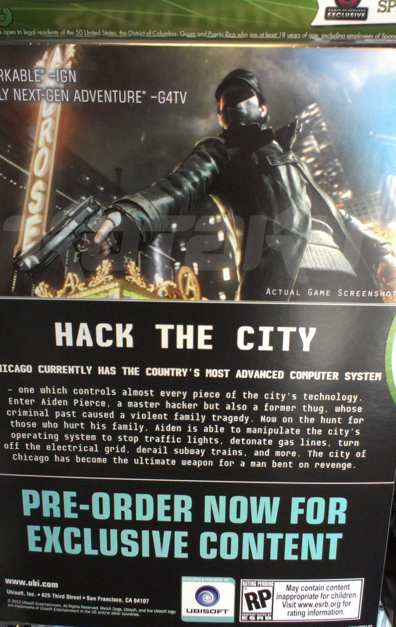 Watch Dogs Will Be Out This Holiday For 'All Home Consoles,' Leaked Poster Says [UPDATE]