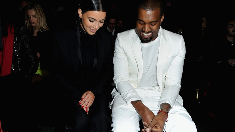 Kimye Contemplates Life/Shoes at the Givenchy Show