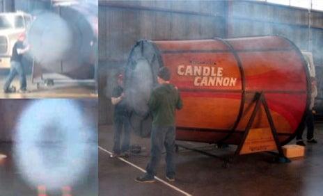 Massive Air Vortex Candle Cannon Built: It Blows, Bigstyle