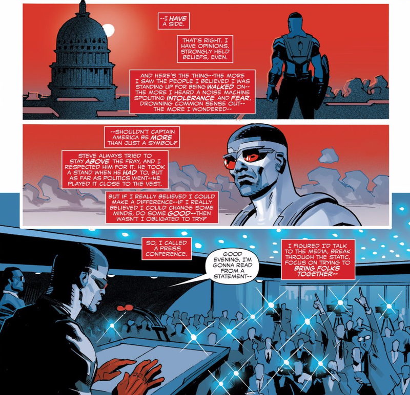 The New Captain America Comic Is All About America's Real World Problems, and People Are Pissed