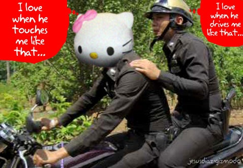 Hello Kitty Used to Punish Thai Police (YES!)