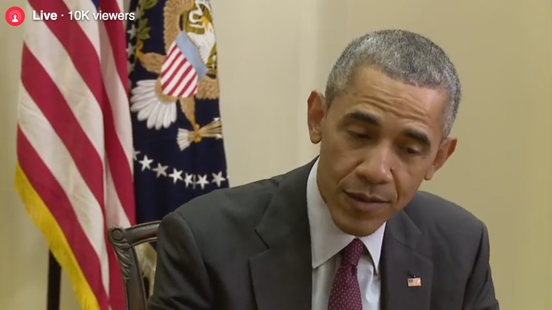 Facebook Live Stopped Working Before BuzzFeed's Facebook Live Interview with Obama Even Began