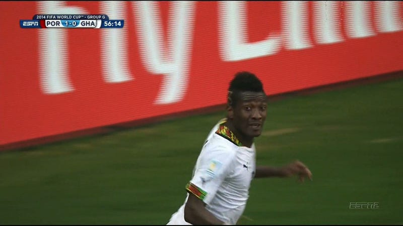 Ghana Score to Tie Portugal, 1-1