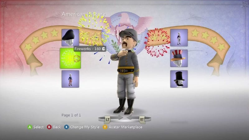 Confederate Army Uniforms Pulled from Xbox Live Avatar Marketplace