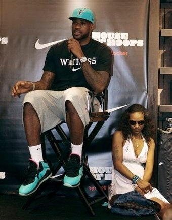 Here's A Rockwellian Picture Of Lebron At A Sneaker-Release Event