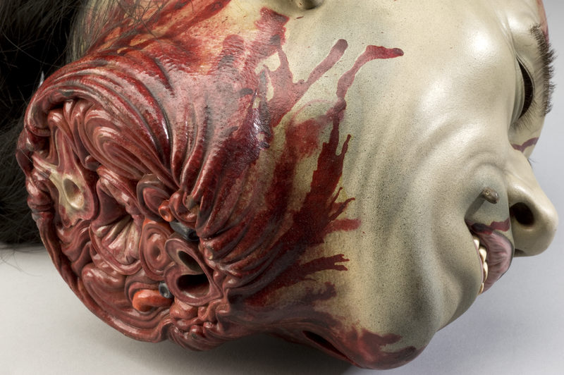 Who created this anatomically accurate model of a severed pirate head?