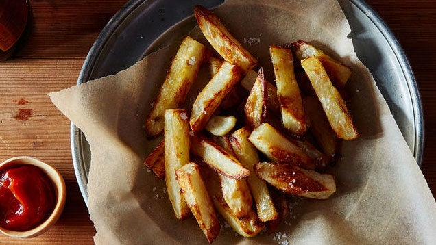 "Make Better Oven-Baked ""Fries"" by First Steaming the Potatoes"