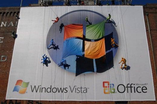 Microsoft Misses The Mark With Vista Building Dancer Billboard