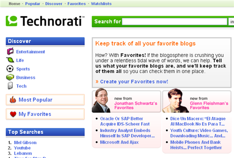 Technophilia: Ten ways to search with Technorati