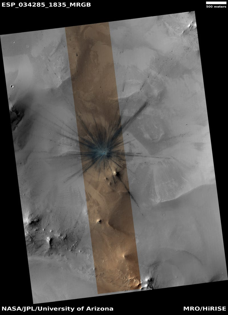 A Spectacular New Crater Shows the Hostile Face of Mars