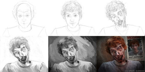 There's Still Time To Win A Zombified Portrait Of Yourself!