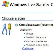 Scan your PC with Windows Live