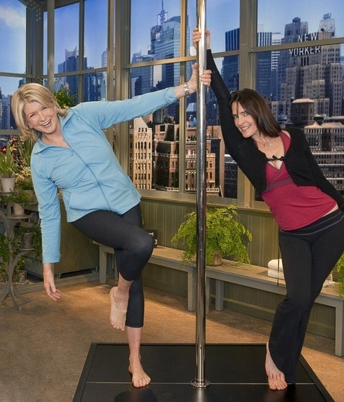 Martha Stewart on a Stripper Pole, for Stripping