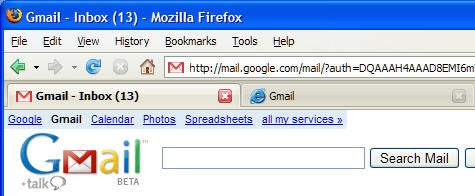Firefox Tip: Log into two Gmail accounts at the same time
