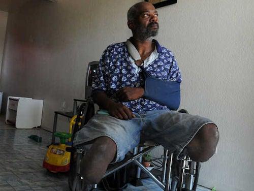 WTF? Police Taser Legless Man in Wheelchair