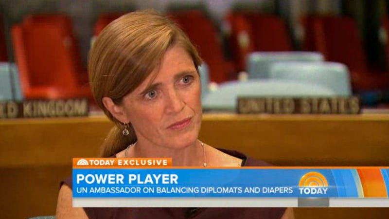 New UN Ambassador Interviewed About 'Diplomacy, Diapers'