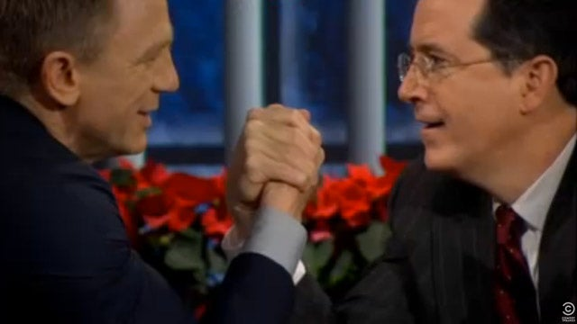 Stephen Colbert Gets Daniel Craig To Talk About His Dirty Laundry
