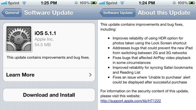 iOS 5.1.1 Is Out Now for iPad, iPhone, iPod Touch