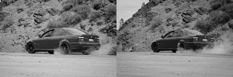 A drive through a Californian valley in an E39 M5