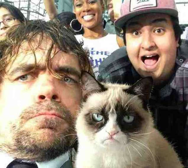 Peter Dinklage Meets Grumpy Cat in Today's Fakest Fake Picture