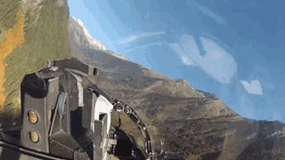Rocket Through The Majestic Cascade Mountains In An F-15E Strike Eagle