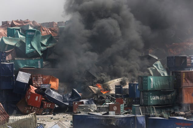 Photos from the aftermath of the devastating Tianjin explosion