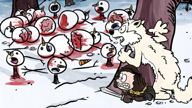 Game of Thrones, in the style of Calvin and Hobbes