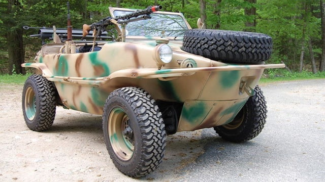 Go for a Schwim with this vintage military Volkswagen