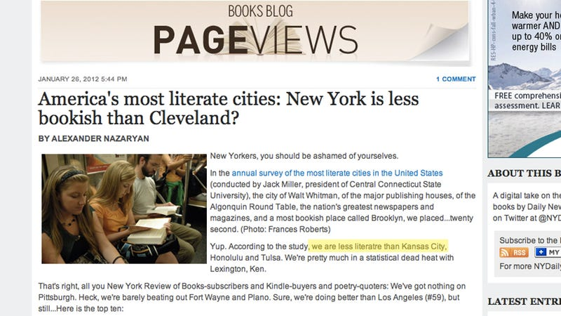 An Article About Literacy Is the Worst Place to Misspell 'Literate' (Updated)