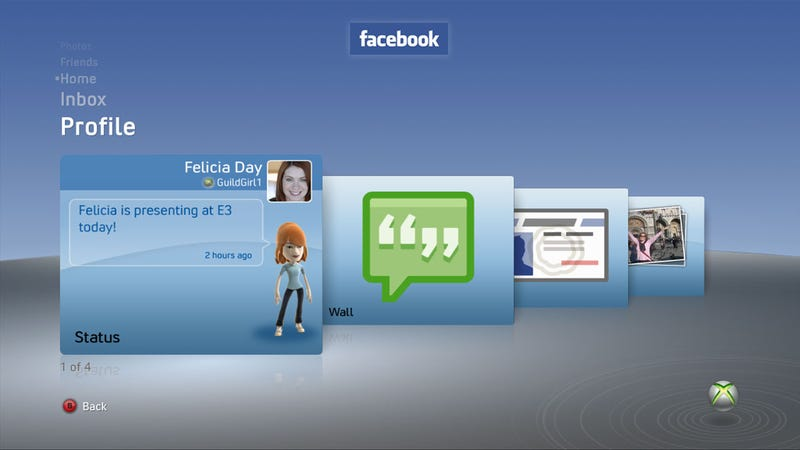 Facebook, Twitter Coming To Xbox 360