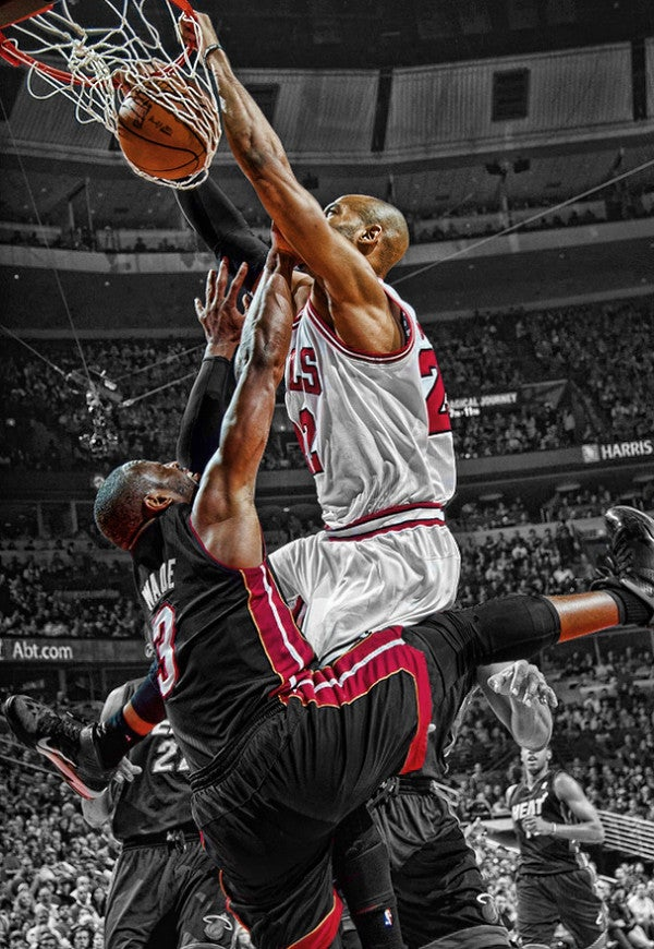The Photo Of Taj Gibson's Dunk On Dwyane Wade Will Replace Bruce Lee Posters Across America