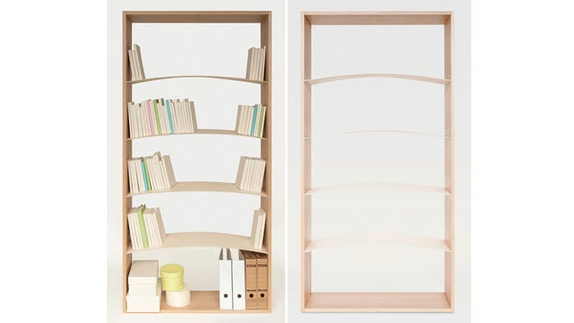 With an Arched Bookshelf You're Never At Risk of an Avalanche