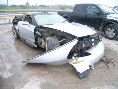 Tornado Wrecked Corvette ZR1