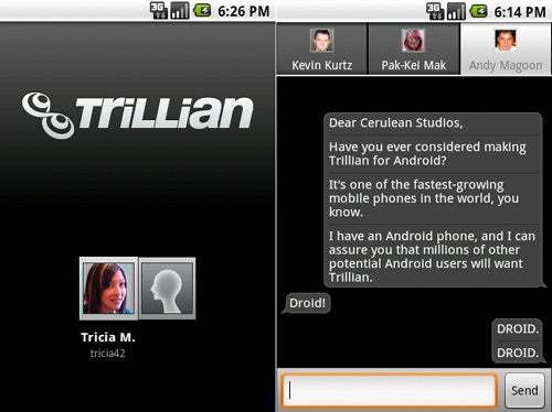 Trillians of Android Messenger Apps