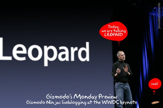 Blogging Apple's Keynote Faster Than a Greased Leopard (Rawr!)