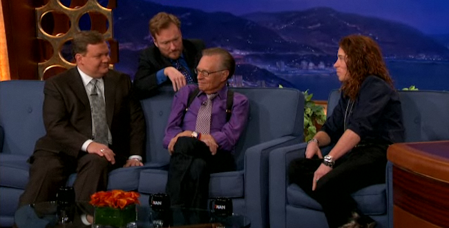 Watch Larry King Hijack Conan's Interview with Shaun White