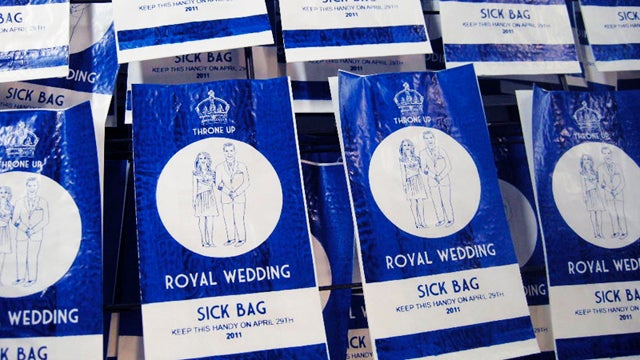 Survive Kate & William Media Coverage With Royal Wedding Barf Bags