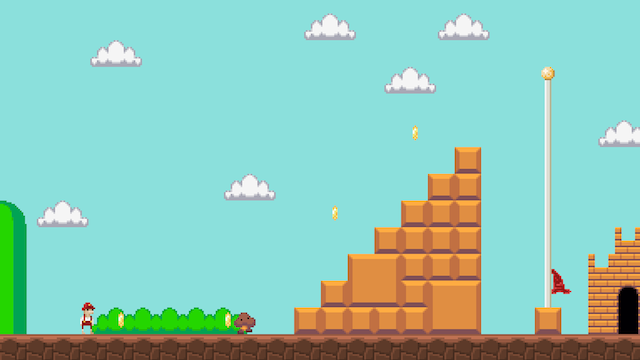 Each Level of Super Mario Bros. Condensed Into a Single Screen