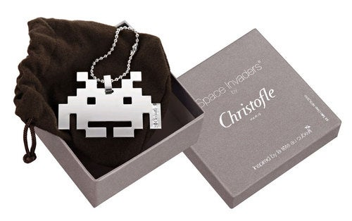 Space Invaders Rendered In Fine French Silver