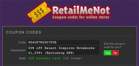 Find Coupons for Online Stores with RetailMeNot