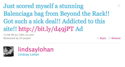 Lindsay Lohan Might Be Making $10K for Tweeting