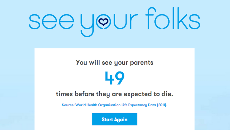 How Many Times Will You See Your Parents Before They Die?
