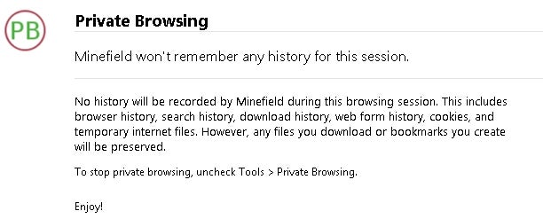 Early Look at Firefox's Private Browsing Mode