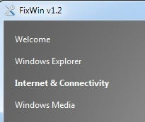 FixWin One-Click Repairs Over Fifty Windows Annoyances