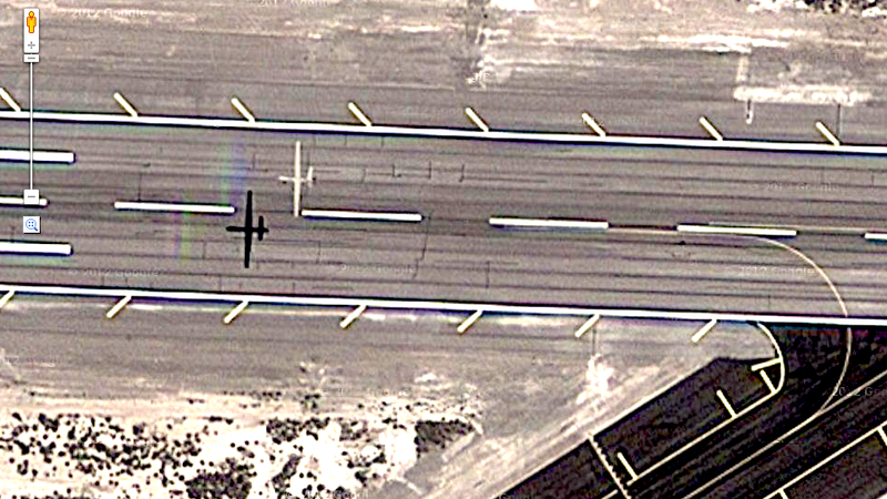 Google Accidentally Photographs Military Drone Landing