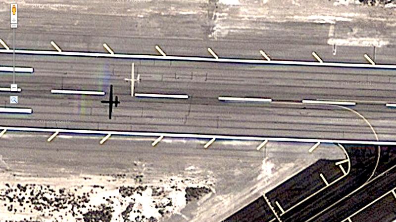 Google Accidentally Photographs Military Drone Landing