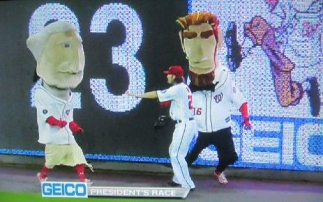 "Jayson Werth Can't Even Help His Favorite ""Racing President"" Nationals Mascot Win"