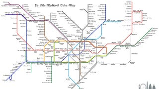 A Tube Map To Assist Time Travelers In Medieval London
