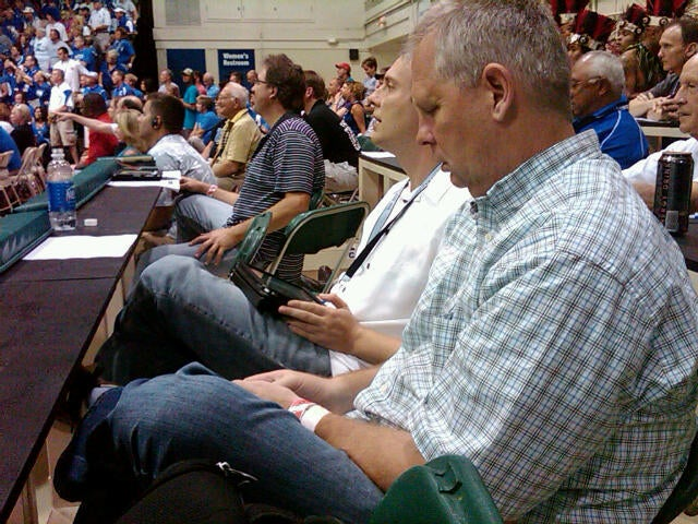 Why Is Danny Ainge Dicking Around On His Phone When He Should Be Working?