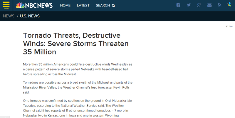 "NBC Reports a ""Gustnado"" Threatens Millions, Uses Day-Old Weather Map"
